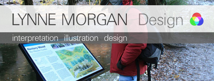 Lynne Morgan Design Interpretation Panels. Design and illustration service for the creation of interpretation panels, brochures and leaflets for visitor attractions.